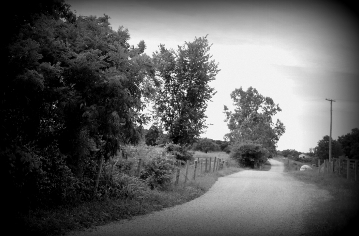 A country road leads past the haunt of the Screaming Lady of Mason County.
