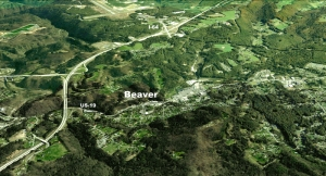 Google Earth image of Beaver West Virginia