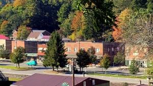 Autumn arrives on Main Street as seen from Walker Street.