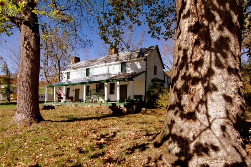The Tyree Tavern overlooks the old Midland Trail (U.S. 60) near the New River Gorge.