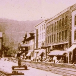 The Town of Thurmond as it appeared in the early 1900s.