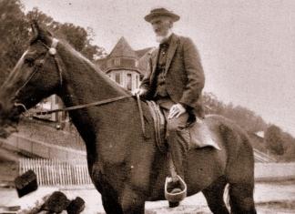 Riding horseback, Captain William Thurmond was a familiar site in the New River Gorge.