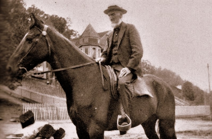Riding horseback, Captain William Thurmond was a familiar site in the New River Gorge.