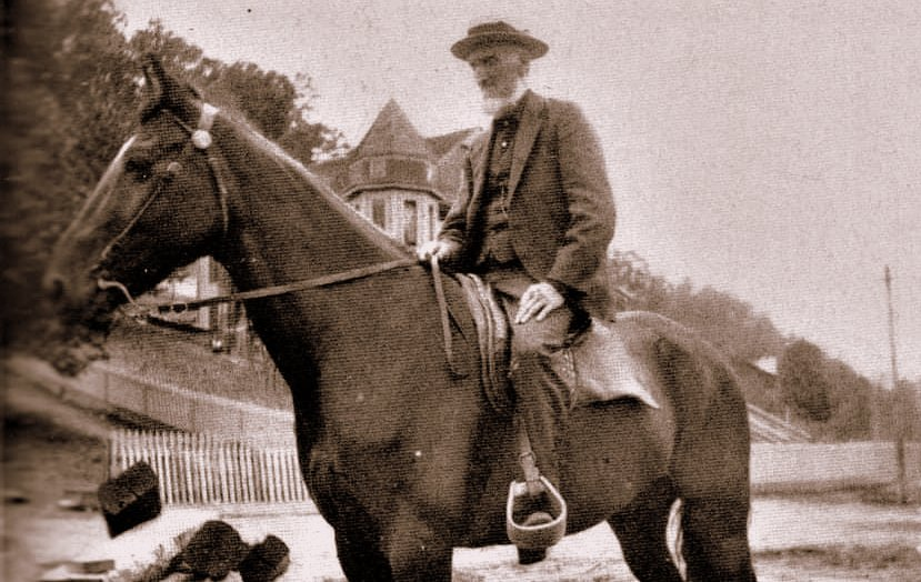 Riding horseback, Captain William Thurmond was a familar site in the New River Gorge region before his death in 1910.