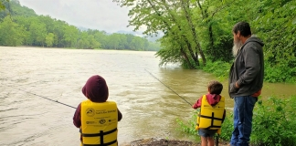 The National Park Service is hosting a fishing day for grandparents and grandchildren at its Camp Brookside Environmental Education Center.