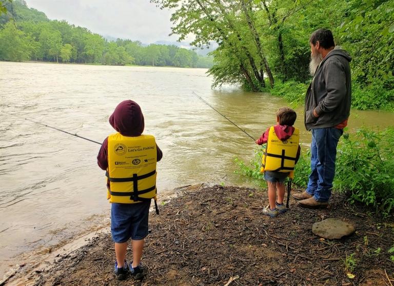 National Park hosts fishing events for grandparents, children