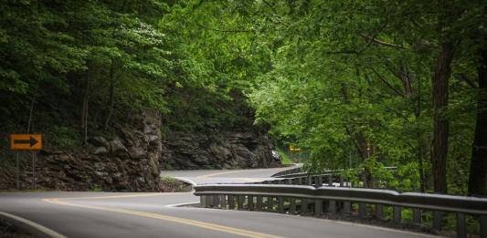 A popular section of The Talon winds along flanks of the New River Gorge near Hawks Nest.