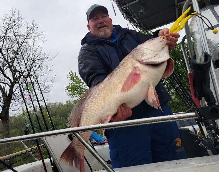 Putnam County angler catches W.Va. record freshwater drum
