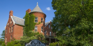 The tower on the McMaster's residence looks out across the historic landscape in Charles Town, West Virginia.