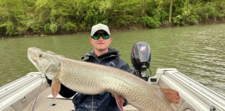 Chase Gibson, of Mount Clare, caught a 54.0625-inch, 39.64-pound musky at Burnsville Lake, breaking the previous record for length.