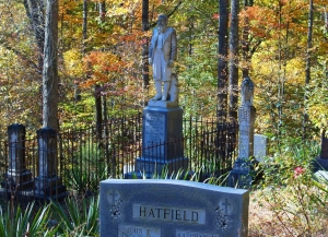 """The grave of """"Devil Anse"""" Hatfield stands near the center of the Hatfield-McCoy Trails System in southwestern West Virginia."""